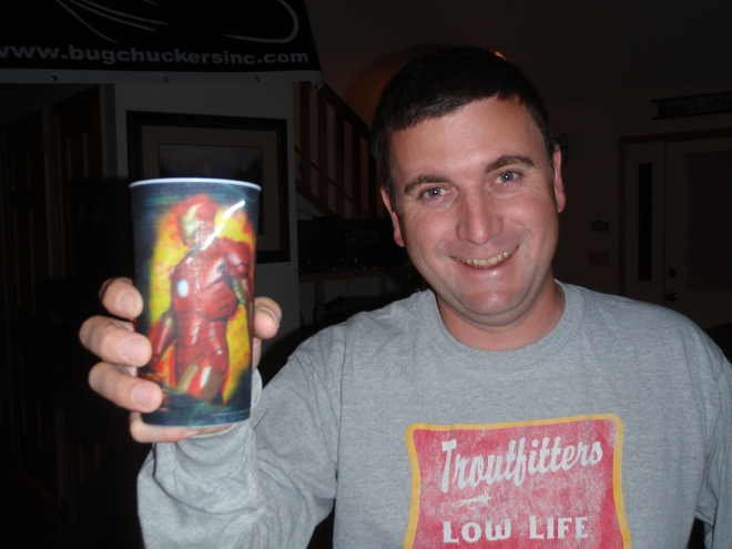 Drinking Adult beverages out of a super hero cup gives super hero fly fishing powers, remember that.